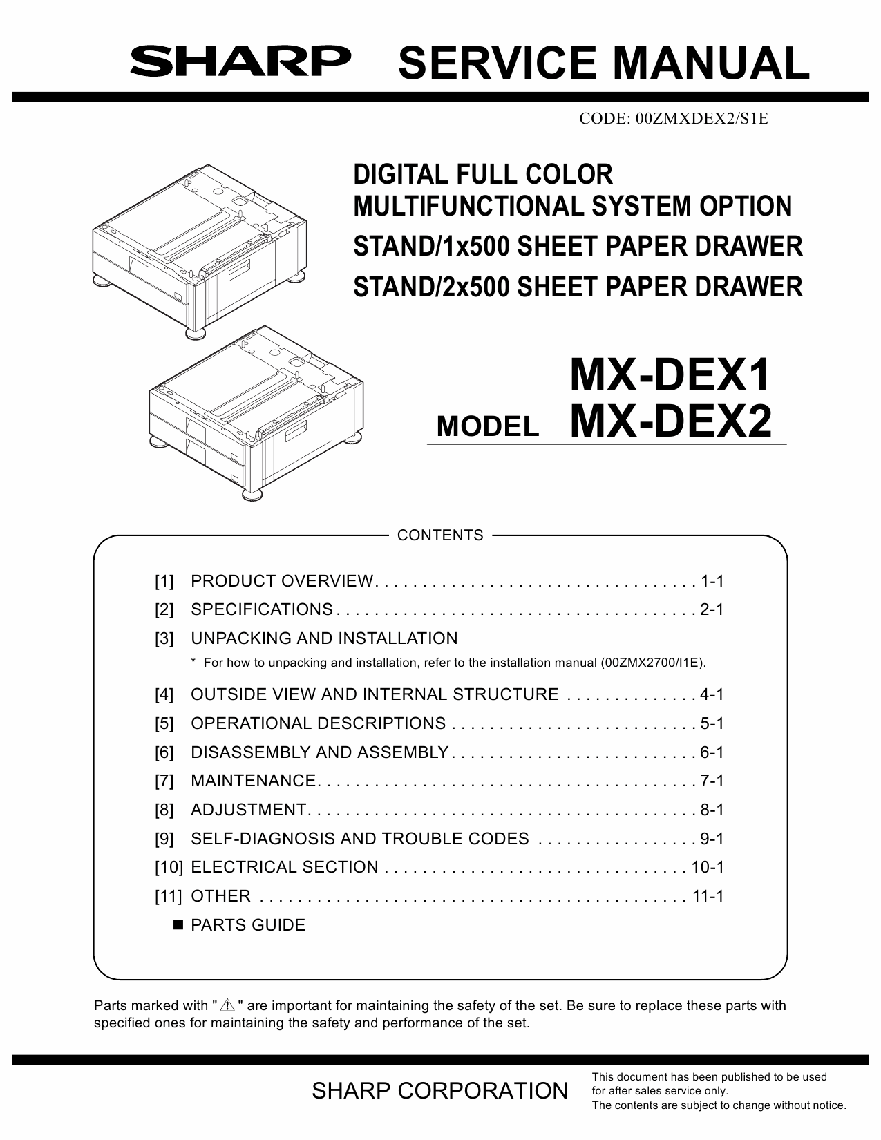 SHARP MX DEX1 DEX2 Service Manual-1